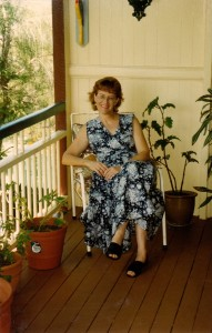 "Me on the verandah at ""Westhaven"". Very couthy!!!"