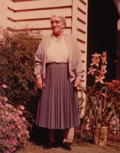 Granma Halley. I remember when this was taken with the getting and placing of Uncle John's orchid....