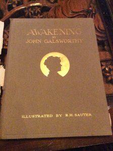Lovely gilt embossing on the cover...dear little Jon...